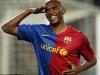 Празднование очередного мяча за Барселону