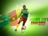 С флагом Камеруна, Африка